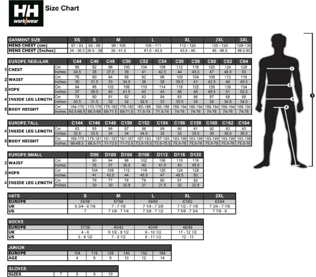 Knighton tool supplies helly hansen size chart helly hansen sizing chart keyboard keysfo Image collections